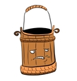 Wooden bucket for a sauna and water vector image