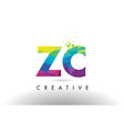 zc z c colorful letter origami triangles design vector image vector image