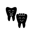 teeth care - happy tooth icon vector image