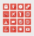 Travel icons flat vector image