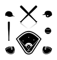 Equipment for baseball vector image