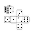 dice template - model of a white cube vector image