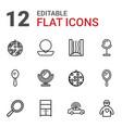 12 mirror icons vector image vector image