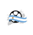 argentina football club template design vector image vector image
