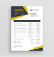 awesome business invoice template design vector image vector image