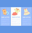 baby clothes set of posters vector image vector image