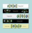 banners design folk style floral background vector image vector image