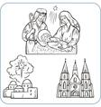Biblical scene vector image