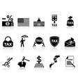 black tax icons set vector image vector image