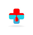 Blood donation symbol vector image