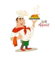 Bon appetit chef character vector image