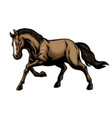 brown horse in hand drawn style vector image vector image