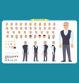 business casual fashion front side back view vector image vector image