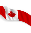 canada day banner background design flag vector image