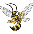 cartoon hornet mascot vector image