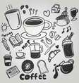 coffe doodle drawing cute vector image vector image