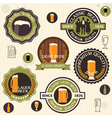 collection beer badges and labels in vintage vector image vector image