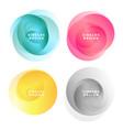 colorful abstract circles frames set vector image vector image