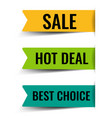 colorful sale labels with isolated white vector image