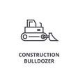 construction bulldozer line icon sign vector image vector image
