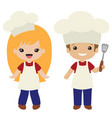 cookout grill cooks boy and girl vector image