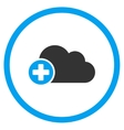 Create Cloud Rounded Icon vector image