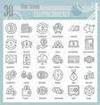 cryptoccurency line icon set bitcoin symbols vector image vector image