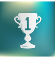 cup for first place icon vector image