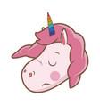 cute unicorn animal fantasy horse horn lovely vector image vector image
