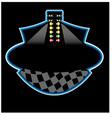 drag race start line vector image vector image