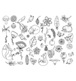 e set the forest animals and vector image vector image