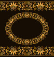 empty round frame and borders greek traditional vector image
