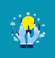 encourage creative idea sharing concept business vector image