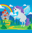 fairy tale pegasus theme image 2 vector image vector image