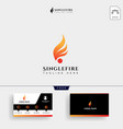 fire ball logo template and business card vector image vector image