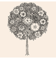 Forest tree flowers vector image vector image