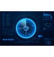 futuristic radar military navigate vector image vector image