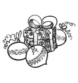 gift and decoration vector image