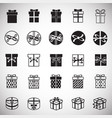 gift icons set on white background for graphic and vector image
