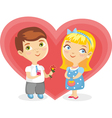Girl Boy Heart Isolated vector image vector image