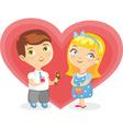 Girl Boy Heart Isolated vector image vector image