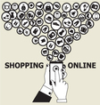 hands mobile Online Shopping vector image vector image