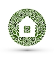 House and nature Logo icon emblem template vector image vector image