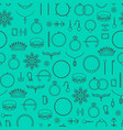 jewelry thin line seamless pattern background vector image