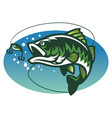 largemouth bass fish mascot vector image vector image