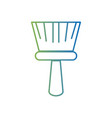 line broom sweep equipment to clean house vector image vector image