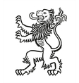 lion heraldic stylized 01 vector image vector image