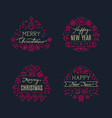 merry christmas greeting scripts with xmas holiday vector image vector image