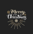 merry christmas lettering with new year vector image vector image