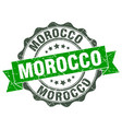 morocco round ribbon seal vector image vector image